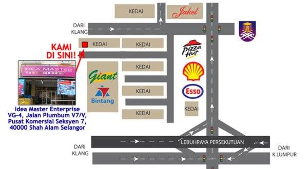 Peta lokasi showroom Idea Master di Seksyen 7 Shah Alam  Hubungi kami Idea  Master. Idea Master
